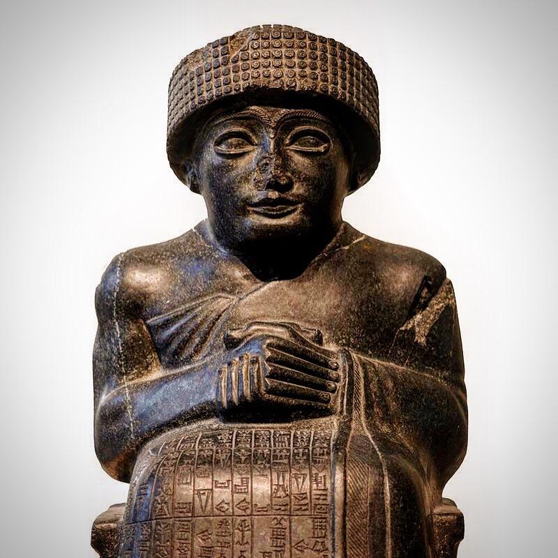 La estatua representa a Gudea, el más célebre de los príncipes de la ciudad-estado de Lagash