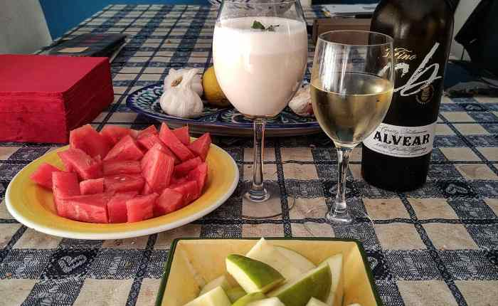 Gazpacho de michirones